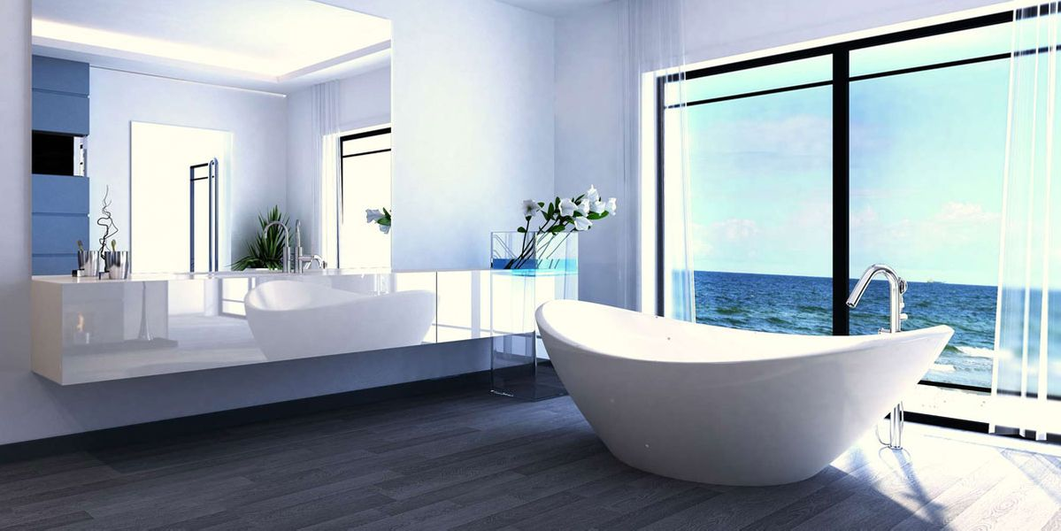 Engel Gas+Wasser GmbH in Karlsruhe, Exclusive Luxury Bathroom Interior by the sea